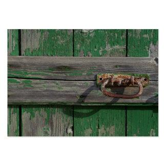 Rusty Door Handle On Green Door Pack Of Chubby Business Cards