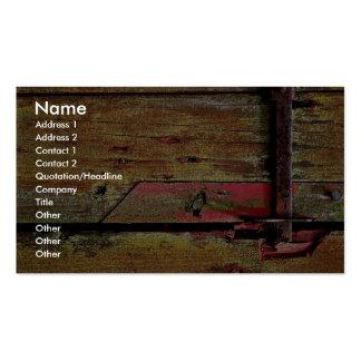 Rusty door latch business card