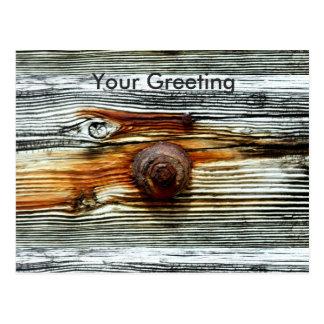 rusty driftwood grey dock board postcard
