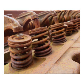 Rusty Engine Block Poster