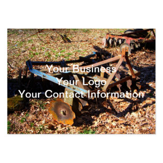 Rusty Farm Field Equipment Pack Of Chubby Business Cards