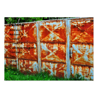 Rusty gate business cards