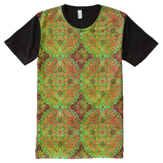 Rusty Green Kaleidoscope ~ Beautiful Reflections All-Over Print T-Shirt