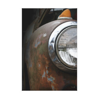 Rusty Headlight Canvas Photographic Print