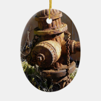 Rusty Hydrant Ceramic Ornament