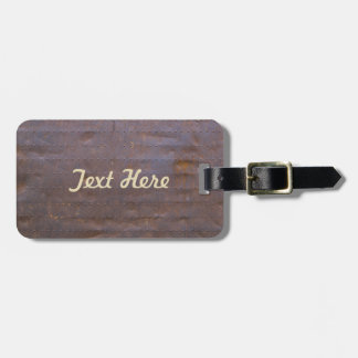 Rusty Iron Texture Background Luggage Tag