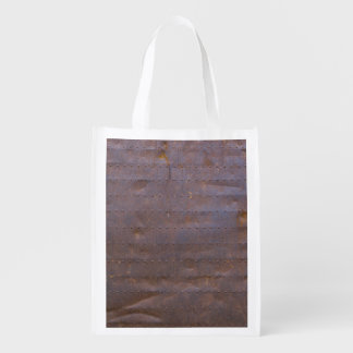 Rusty Iron Texture Background Reusable Grocery Bag