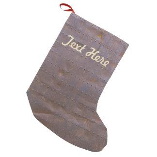 Rusty Iron Texture Background Small Christmas Stocking