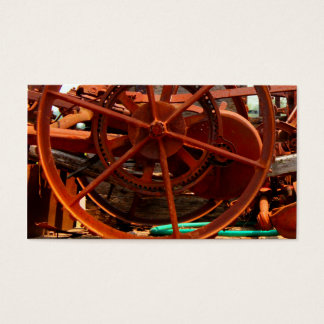 Rusty junk metal farm equipment steampunk machines business card