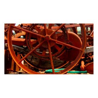Rusty junk metal farm equipment steampunk machines pack of standard business cards