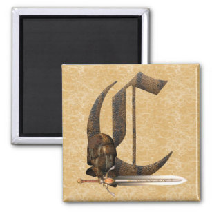 Rusty Knights Initial C Magnet