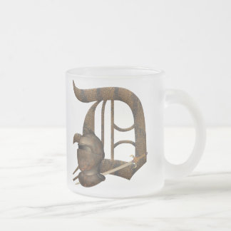 Rusty Knights Initial D Frosted Glass Coffee Mug