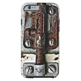 Rusty Lock Bolted Shut with Personalized Initials Tough iPhone 6 Case