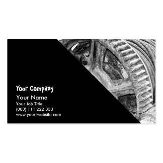 Rusty machinery business card templates