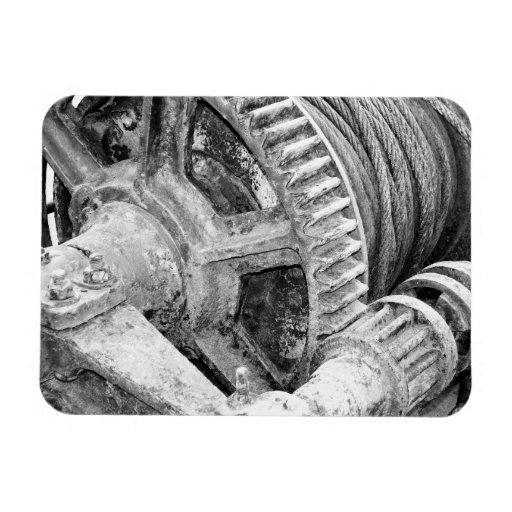 Rusty machinery vinyl magnet