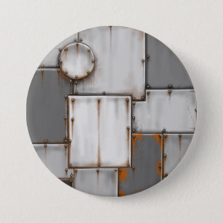 rusty metal 7.5 cm round badge