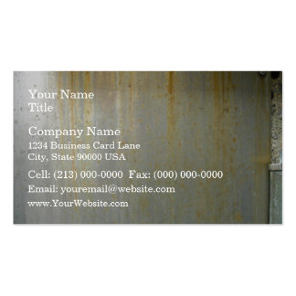 Rusty Metal Plate with bolts Business Card Templates