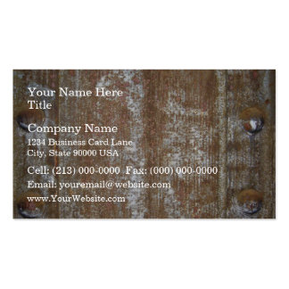 Rusty Metal Plate With Screws Business Card Templates