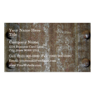 Rusty Metal Plate With Screws Business Cards