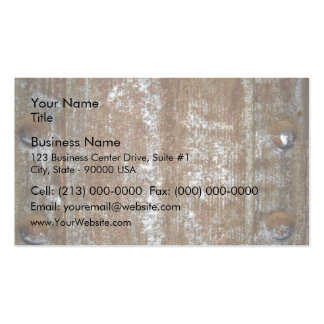 Rusty Metal Plate With Screws Business Card