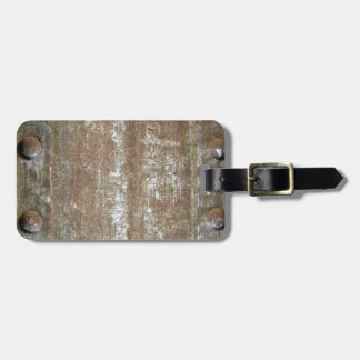 Rusty Metal Plate With Screws Luggage Tag