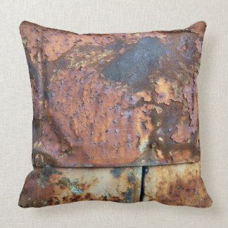 Rusty Metal Siding Old Industrial Building Cushion