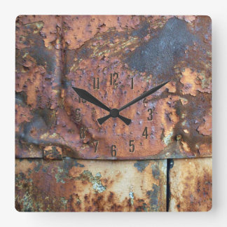 Rusty Metal Siding Old Industrial Building Wall Clock