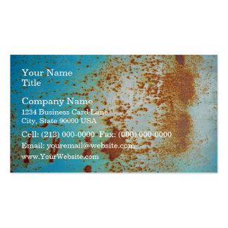 Rusty Metal With Blue Scratched Paint Business Card