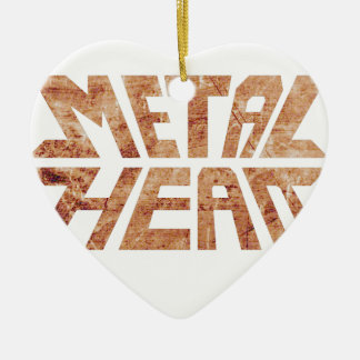 Rusty MetalHead Ceramic Ornament