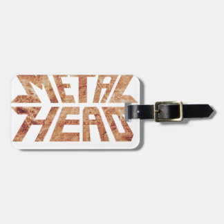 Rusty MetalHead Luggage Tag
