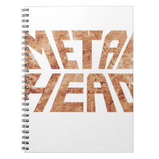 Rusty MetalHead Notebook
