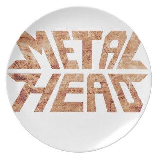 Rusty MetalHead Plate