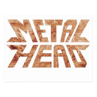 Rusty MetalHead Postcard