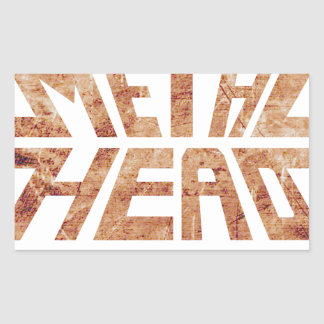 Rusty MetalHead Rectangular Sticker