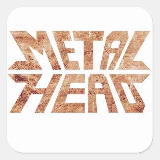 Rusty MetalHead Square Sticker
