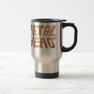 Rusty MetalHead Travel Mug