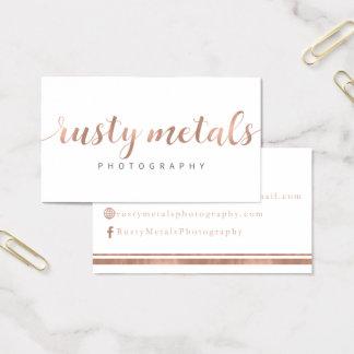 Rusty Metals Custom Business Cards