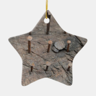 rusty nails ceramic star decoration