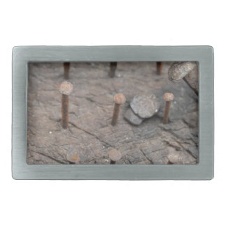 rusty nails rectangular belt buckles