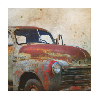 Rusty Old Antique Car Canvas Print
