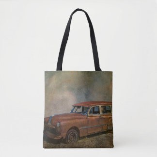 Rusty Old Antique Car Tote Bag