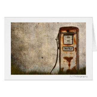 Rusty Old Antique gas pump Card