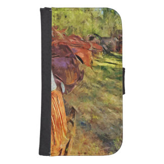 Rusty Old Cars and Trucks Abstract Impressionism Galaxy S4 Wallet Cases