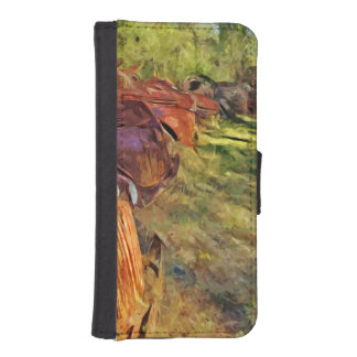 Rusty Old Cars and Trucks Abstract Impressionism Phone Wallets
