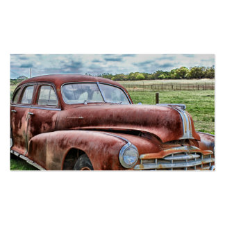 Rusty Old Classic Car Vintage Automobile Pack Of Standard Business Cards