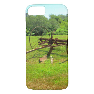Rusty Old Farm Equipment iPhone 7 Case