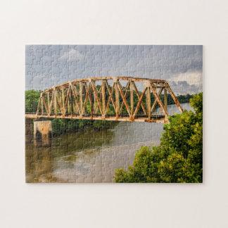 Rusty Old Railroad Bridge - Chattahoochee River Jigsaw Puzzle