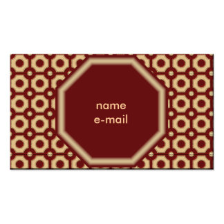 rusty pack of standard business cards