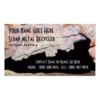 Rusty Pipe Metal Work or Scrap Recycling Business Card Templates