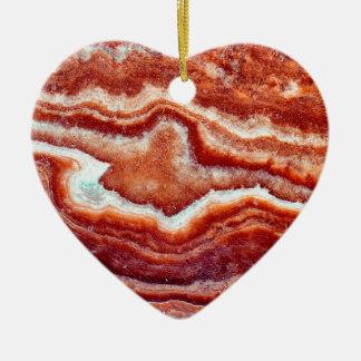 Rusty Quartz Ceramic Heart Decoration